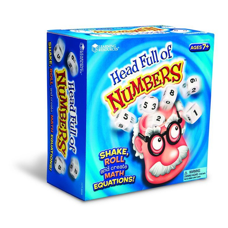 Kids will have math on their minds with this game for any number of players! From one child to the whole family, everyone will love the fast-paced fun. Place the three standard dice and three custom d