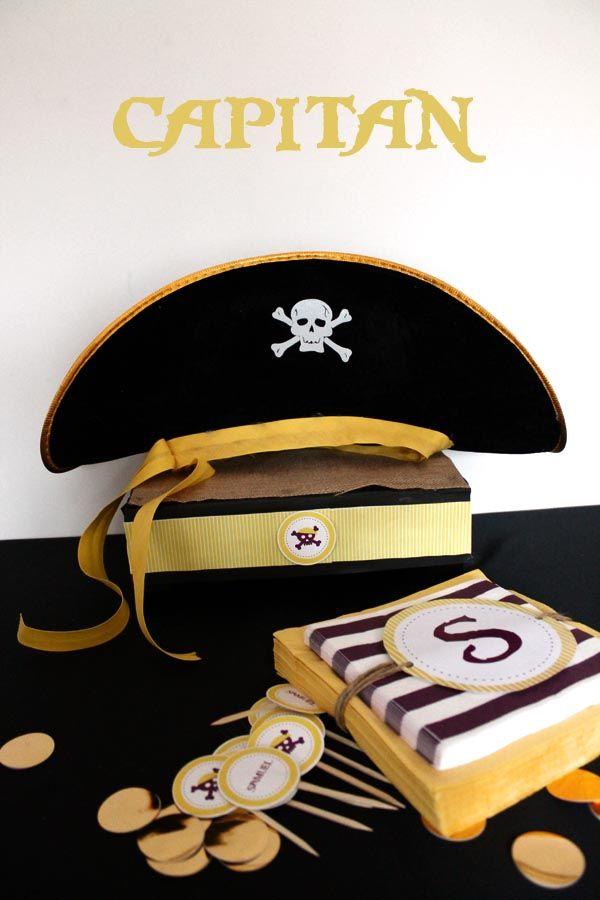 gorro capitan pirata cumpleaños niño