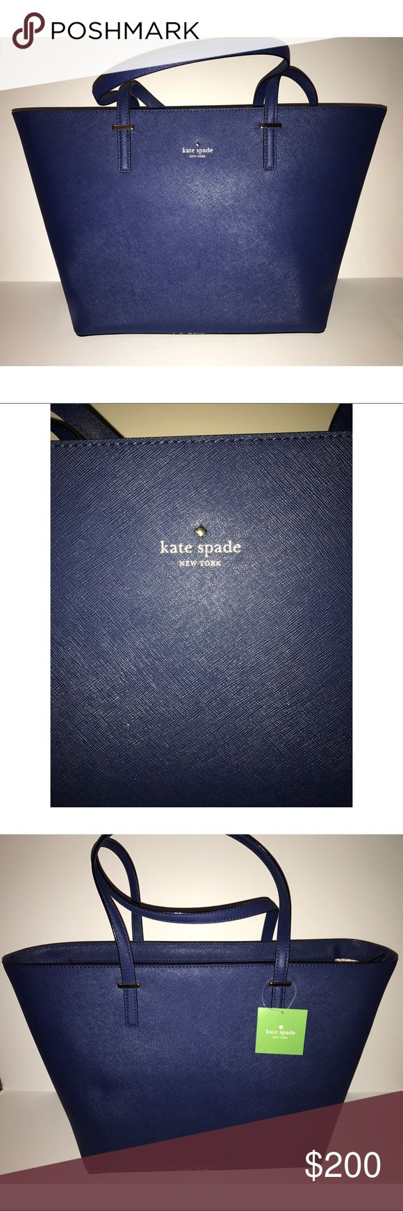 NWTS Kate Spade Blue Medium Cedar Street Harmony Company: Kate Spade  Color: Blue Brand new never used Comes with brown dust bag  Has a zipper on top to Secure your things  10% off Black Friday weekend sale till 11/25 kate spade Bags Totes