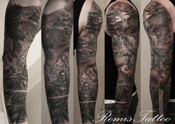 warrior sleeve tattoo - 80+ Awesome Examples of Full Sleeve Tattoo Ideas  <3 !