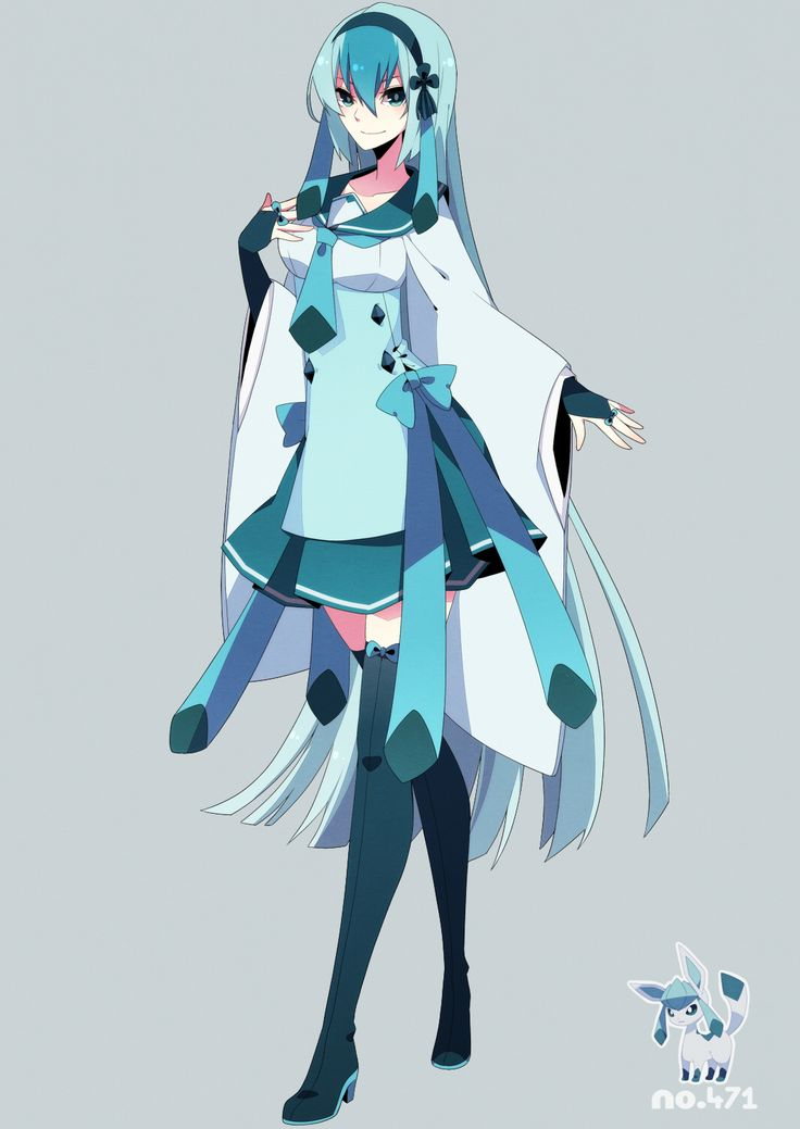 human version gijinka pokemon, glaceon | Gijinka Pokemon ...