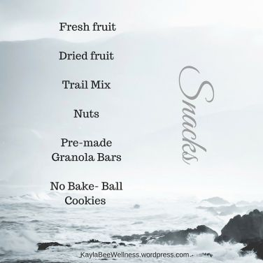 Snacks to have on hand during hurricane weather!   Kaylabeewellness.wordpress.com