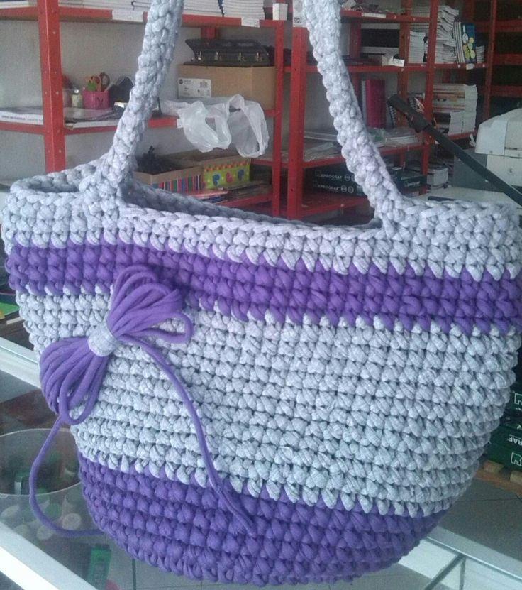 TRAPILLO bolso lila y gris