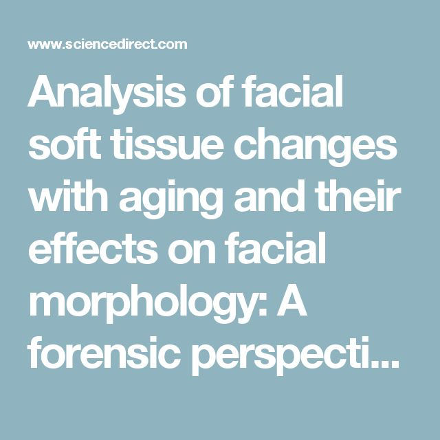 Analysis of facial soft tissue changes with aging and their effects on facial morphology: A forensic perspective - ScienceDirect