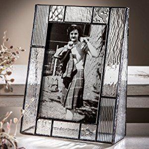 J Devlin Pic 310–46VティファニーStyled 4x 6ガラスフレーム画像の垂直Portrait Photoクリアテクスチャガラスin aミッションスタイル