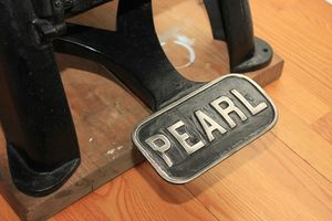 Golding Pearl Improved No. 11. #letterpress #antique #printingpress #treadleoperated