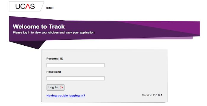 UCAS Track Login