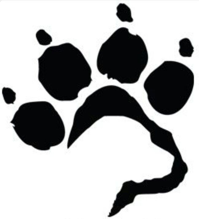 Don't want a tattoo but this design is brilliant :) Labrador face in paw print dog tattoo