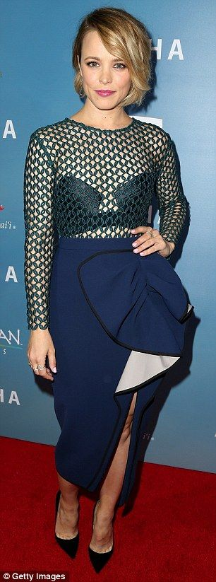 Rachel McAdams outshines Emma Stone at Aloha premiere in West Hollywood | Daily Mail Online