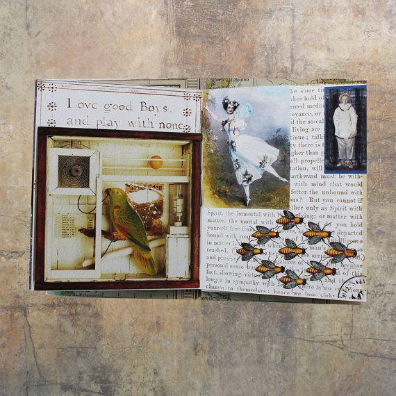 Artist's book, Joseph Cornell, coptic stitched book, hand bound book, art gift