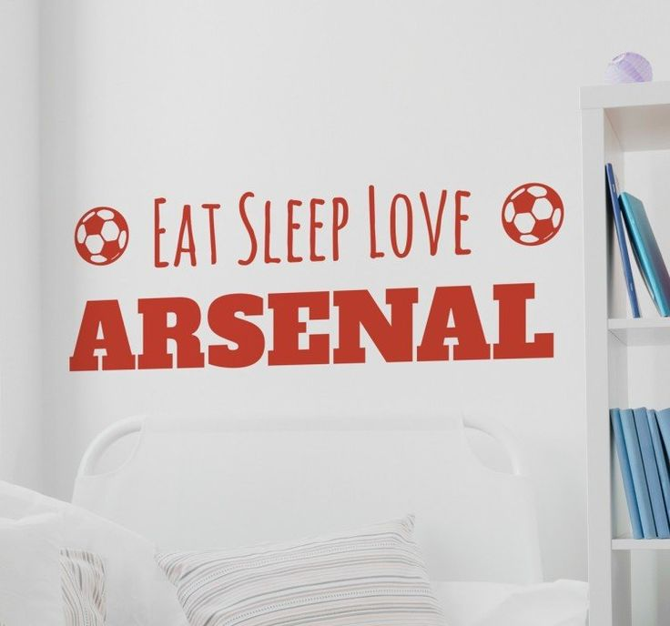 A football wall sticker for you to personalise with your own team's name. Are you an die- hard football fan? No football themed room is complete without this great wall decal!   If your #life consists of eating, sleeping and #loving your #football team, then you are sure to #love this #sticker to #decorate your room. #tenstickers