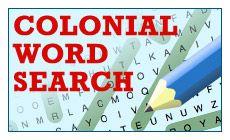 Colonial Word Seach