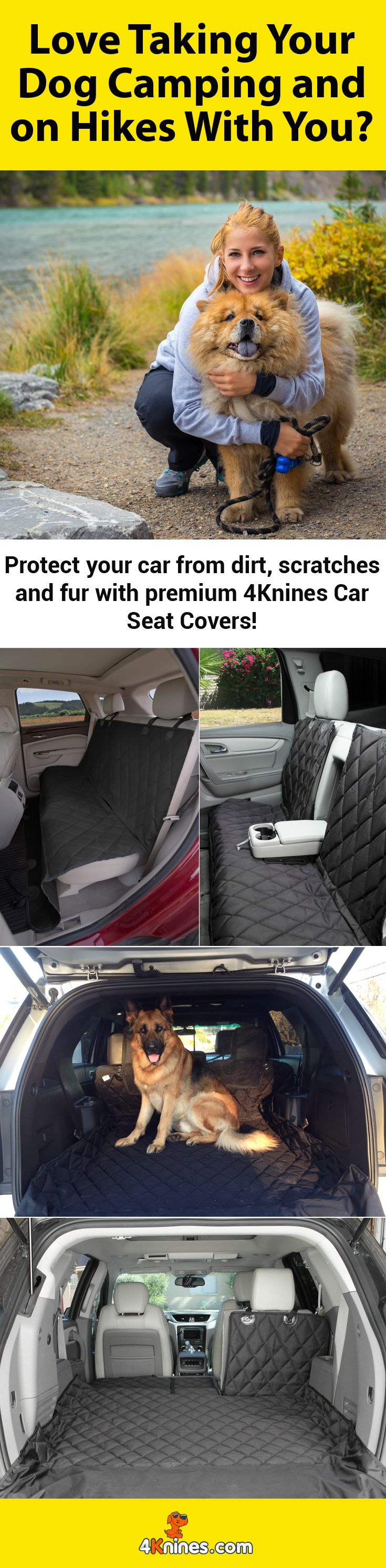 Do you love bringing your dog everywhere, but worry about messing up your car seats? Get a premium 4Knines Car Seat Cover today to not only protect your car but also keep it looking stylish! http://4knines.com/collections/all/