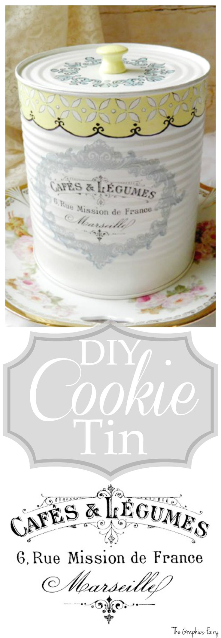 DIY Cookie Tin - The Graphics Fairy