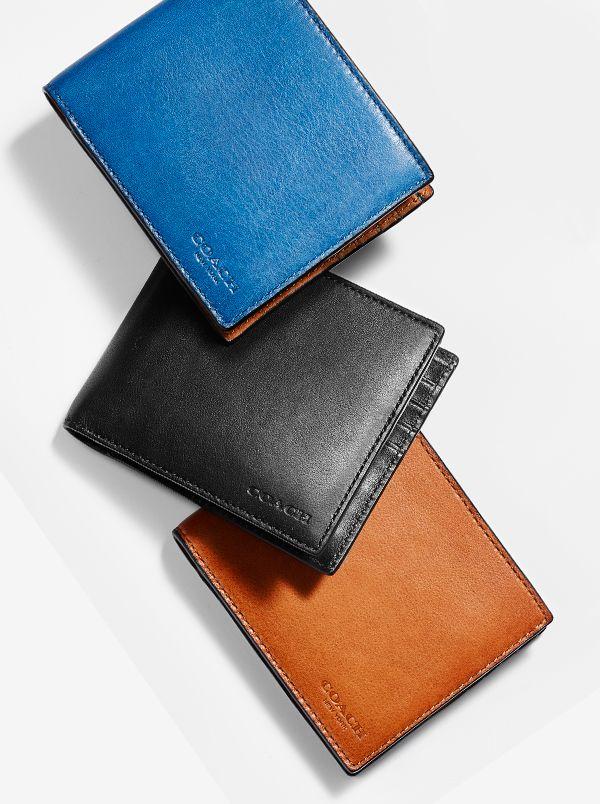 Coach Men S Wallets Men S Designer Leather Wallets Men