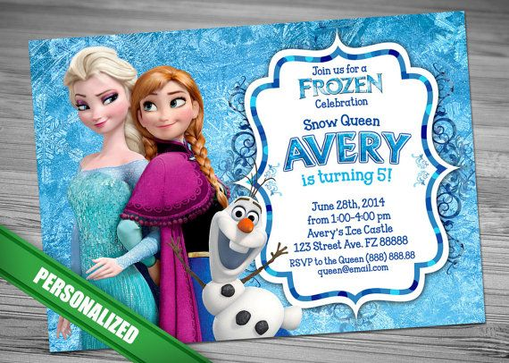 23 best Frozen party invitation images on Pinterest Frozen party - invitation birthday frozen