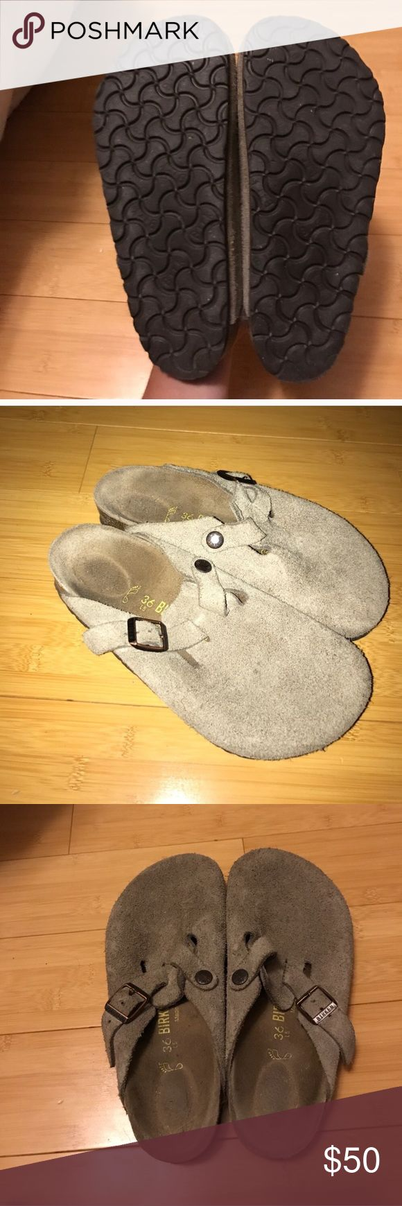 Tan Birkenstock Used worn a handful of times tan Birkenstocks very comfy cute with socks for winter Birkenstock Shoes Mules & Clogs