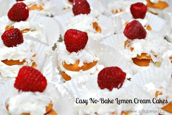 Make Easy No Bake Lemon Cream Cakes with your kids