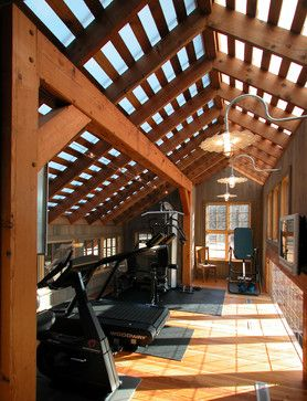 BarnHouse Addition - eclectic - home gym - other metro - GMK Architecture Inc
