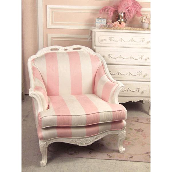 Shabby Chic Style Bergeres & Upholstered Chairs - The Bella Cottage ($695) ❤ liked on Polyvore