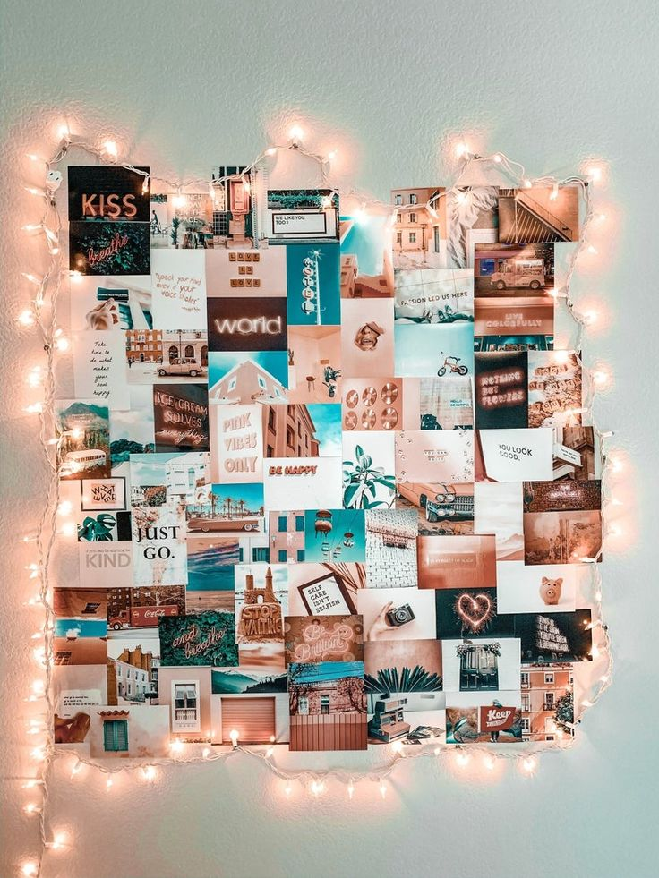 Trendy pink collage kit in 2020 Photo walls bedroom