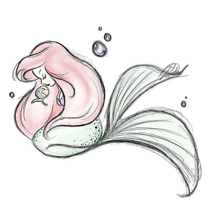 easy mermaids drawings - photo #1