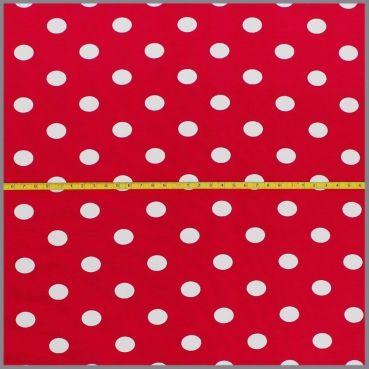 Jersey Polka Punkte granat rot