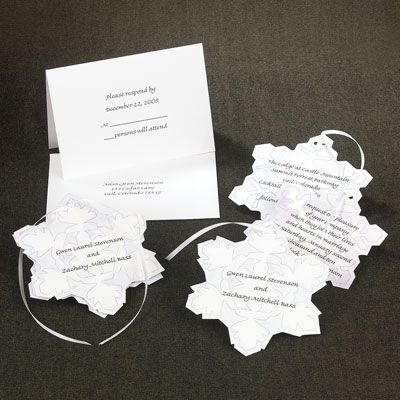 diy snowflake invitations