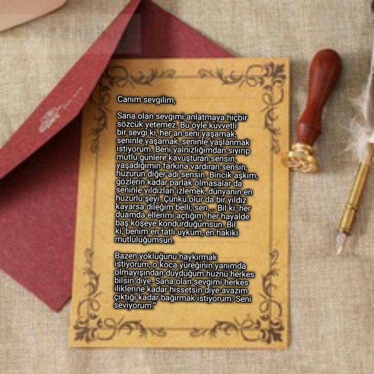 Sevgiliye Mektuplar -Canım Sevgilim – Çok İyi Abi