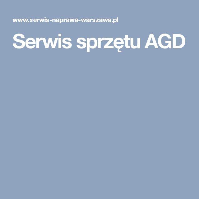 Serwis sprzętu AGD