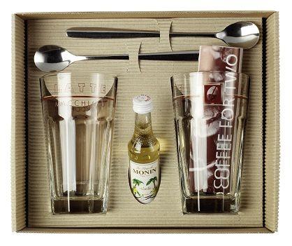 Set pahare latte format din  doua pahare de 340 ml, doua lingurite lungi din inox ambalate  intr-o cutie cadou. Recomandă-l prin Happy Share și primești 4% comision din vânzările generate.
