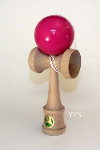 Kendama TK 16 Master - Pink by YoYoSam. $22.99. The TK16 Master is handcrafted, made of wood, and officially sanctioned by the Japanese Kendama Association!Weighing in at a comfortable 140 grams, these have the weight and stability that cheaper imitations lack. The string is attached under the cup, so the knot is hidden from view. And this model includes a spare string, too!The TK16 Master comes in 4 great colors: Black, Blue, Red and Natural Wood.These are made in Jap...
