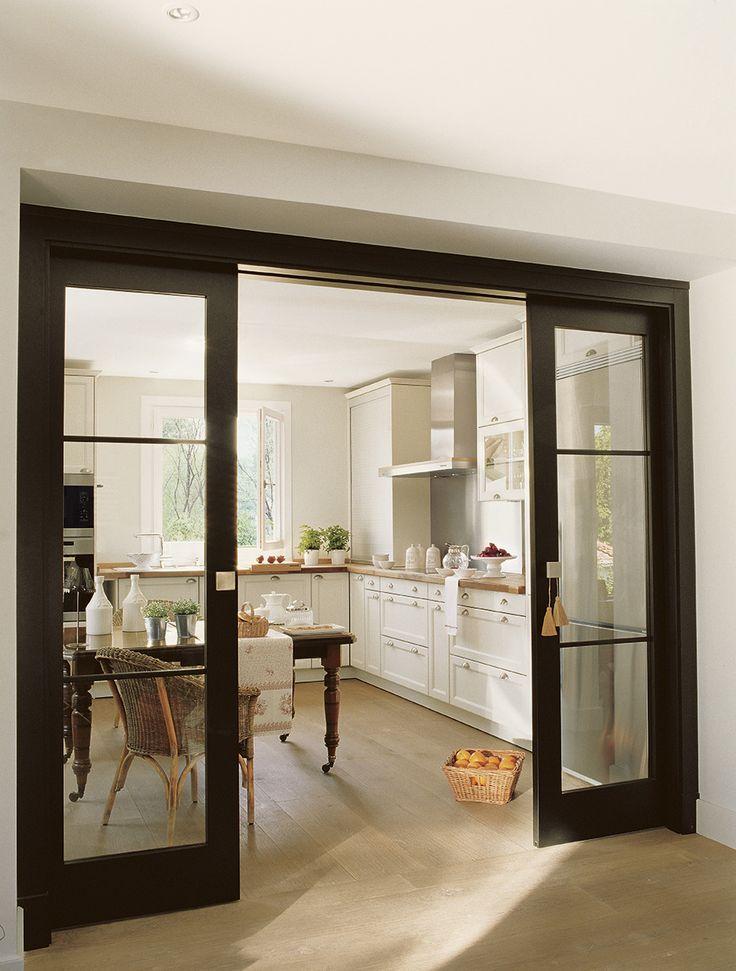 M s de 25 ideas incre bles sobre puertas negras en - Casas con puertas blancas ...