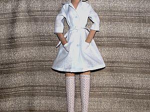 Пошив медицинского халатика для куклы. Ярмарка Мастеров - ручная работа, handmade.