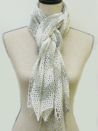 Crochet - Holiday & Seasonal Patterns - Autumn Patterns - Chevron Lace Scarf
