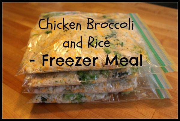 Chicken Broccoli Rice - Freezer Meal