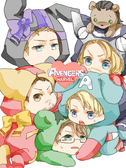 cute baby avenger.....except for the weird baby facial hair lol