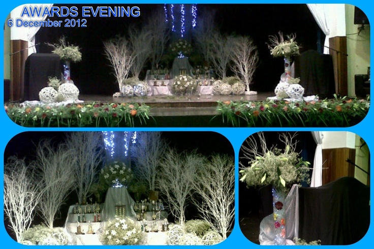 Stage décor : Prize giving - primary school.