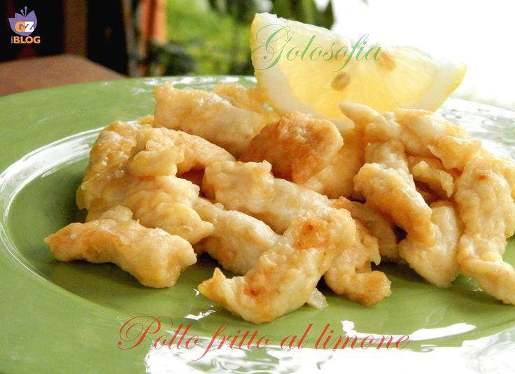 Pollo fritto al limone- Pollo fritto al limone  Ingredienti per 2-3 persone:  360 gr di petto di pollo, 1 uovo, farina q.b, sale q.b, olio di semi per friggere q.b, Per la salsa al limone:  100 ml di acqua, 1/2 cucchiaio di farina maizena, 50 ml di vino bianco, 1/2 limone spremuto, 1/2 cucchiaino di zucchero