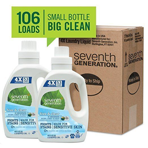 Seventh Generation Laundry Detergent Free and Clear 40 Fl Oz (Pack of 2) - Amazon $12.72 w/ 5% S&S https://www.lavahotdeals.com/us/cheap/seventh-generation-laundry-detergent-free-clear-40-fl/310118?utm_source=pinterest&utm_medium=rss&utm_campaign=at_lavahotdealsus&utm_term=hottest_12