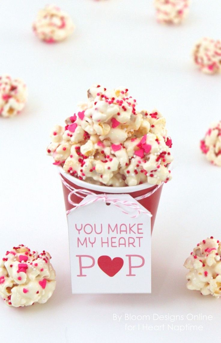 You Make My Heart Pop Recipe and Free Printable -Perfect Valentine's Day Treat!