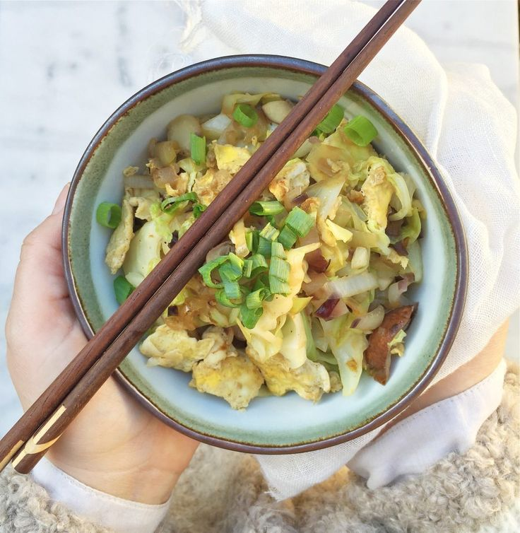 Wok recept: groenten met omelet & sojasaus made by ellen