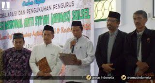 Allahu Akbar! ANNAS Sul-Sel Siap Amar Ma'ruf Nahi Munkar dalam Menyikapi Penyebaran Ajaran Syiah PERS RILIS PERNYATAAN SIKAP ANNAS SULAWESI SELATAN  MAKASAR. Ratusan ummat Islam hadiri Gelaran Deklarasi & Pengukuhan Pengurus Aliansi Nasional Anti Syiah (ANNAS) Wilayah Sulawesi Selatan (Sul-Sel) Ahad 5 Februari 2017 di Masjid Ikhtiar Komplek Perdos UNHAS Tamalanrea Jl. Perintis Kemerdekaan No. 8 Makasar Sul-Sel. Gelaran acara berjalan aman dan lancar jelang akhir acara dilakukan…