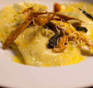 Goat Cheese Ravioli with Blue Cheese Sauce | My Kitchen Rules NZ 2014
