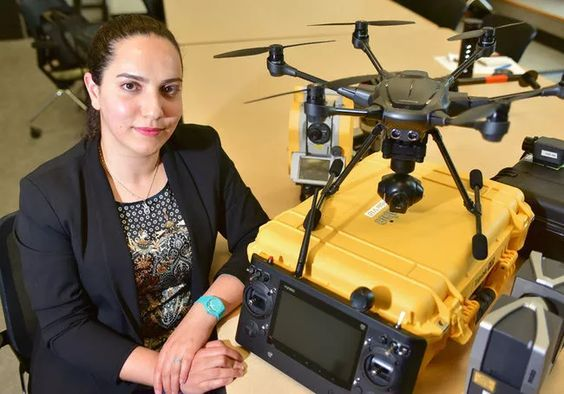 Dr. Mozhdeh Shahbazi, professor of geomatics engineering at the University of Calgary's Schulich School of Engineering is working on developing autonomous navigation technology for unmanned aerial vehicles (UAVs.) She anticipates the technology will be used in a next-generation breed of 'intelligent' drones that will aid in everything from search and rescue to aerial evidence collection for law enforcement. Bryan Passifiume/Postmedia Network