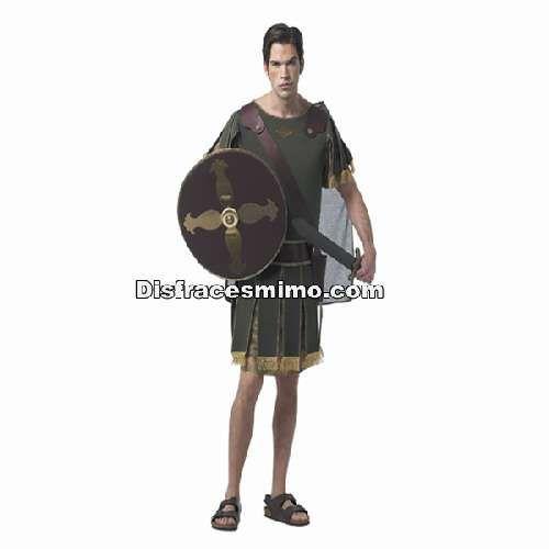 Tu mejor disfraz de caballero griego adulto para hombre.Este disfraz de guerrero del ejército de Roma es ideal para Carnaval, Ferias Históricas, Eventos Temáticos de Disfraces y Representaciones Teatrales.