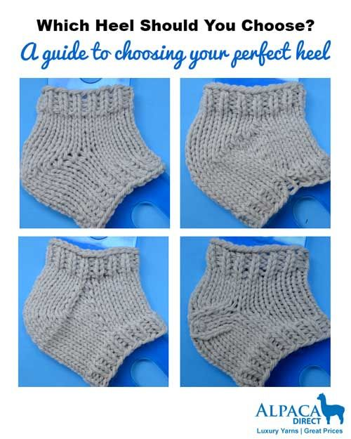 How to choose your perfect sock heel-whether you knit them toe up or top down.