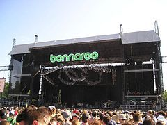 The Bonnaroo Music and Arts Festival is an annual four-day music festival, held at Great Stage Park on a 700-acre (2.8 km²) farm in Manchester, Tennessee, USA. The twelfth edition took place June 13–16, 2013. The main attractions of the festival are the multiple stages of live music, featuring a diverse array of musical styles including indie rock, world music, hip hop, jazz, americana, bluegrass, country music, folk, gospel, reggae, electronica, and other alternative music.