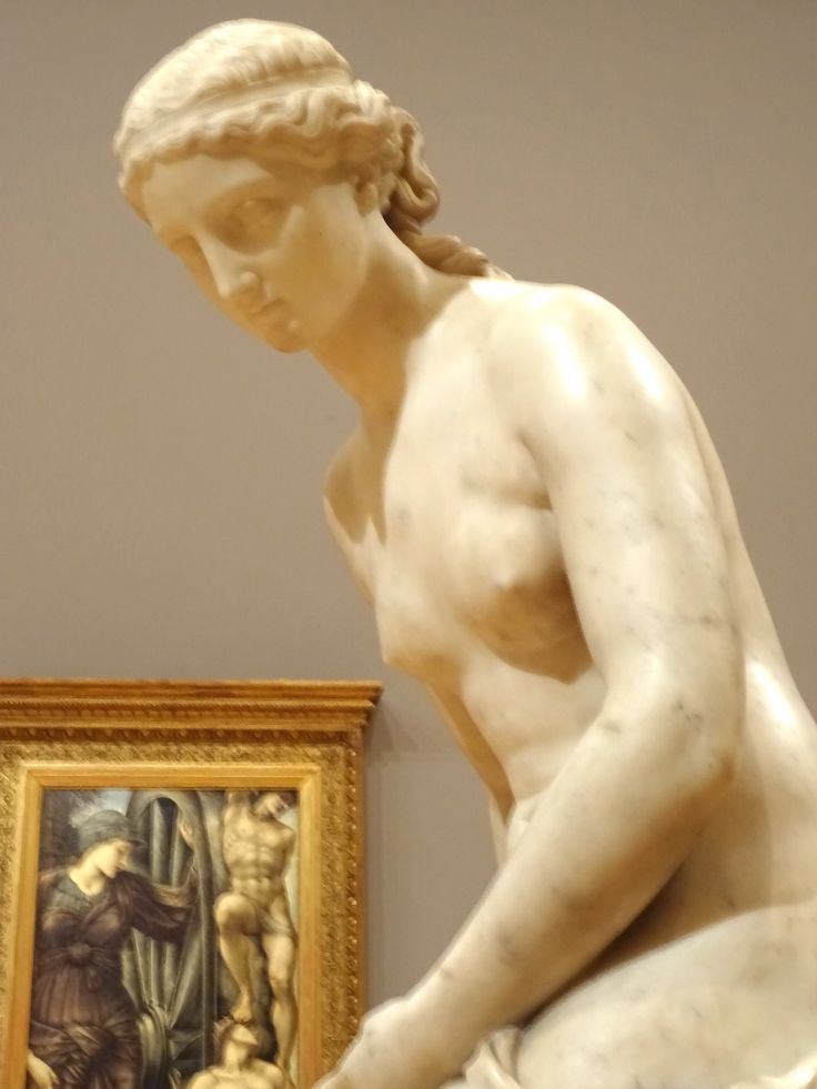 Detail- Musidora by Marshall Wood. Sculptor- English. 1878 marble. Gift of John H. Connell 1914. NGV Melbourne Australia.