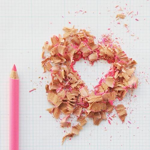 Pencil shavings love: creative & cute!